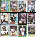 1980-1986 Topps Football High Grade Group of (7) Complete Sets