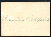 Barney Oldfield Cut Signature JSA LOA