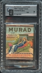 1909-11 Murad Turkish Unopened Cigarette Box GAI 7 NM