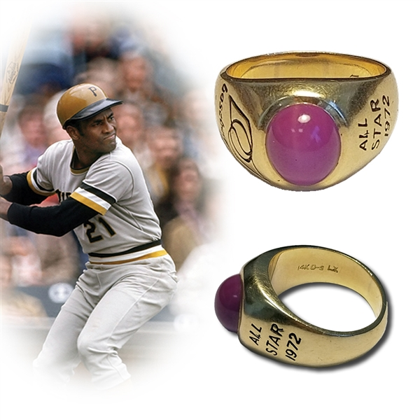 Roberto Clemente's 1972 MLB All Star Ring-The Last Ring of His Career-Fresh to the Hobby