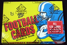 1975 Topps Football Full Unopened Cello Box BBCE