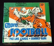 1978 Topps Football Unopened Cello Box BBCE
