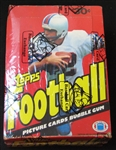 1981 Topps Football Unopened Wax Box BBCE
