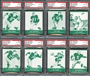 1961 Lake to Lake Packers High Grade Group of (15) All PSA Graded