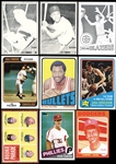 1962-85 Blank Back and Proof Group of (9) Cards with HOFers