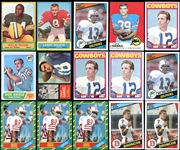 1960-1984 NFL Hall of Fame and Star Rookie Card Lot of (34) Including Griese, Staubach, Csonka, Elway, Marino, Rice Etc