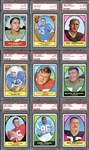 1967 Topps Football Complete Set All PSA Graded #11 on PSA Set Registry