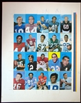 1970 Topps Super Football Uncut Sheet with (20) Cards Featuring Starr, Unitas, Sayers, Etc.