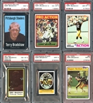 1971-83 Terry Bradshaw Group of (19) All PSA Graded with Rookie Card