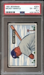 1951 Bowman #253 Mickey Mantle PSA 6.5 EX/MT+