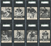 1959 Kahns Football Group of (8) Including All Five Graded SGC 96 and Three SGC 88