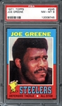 1971 Topps #245 Joe Greene PSA 8 NM/MT