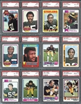 1968-1998 Pittsburgh Steelers Group of (43) All PSA Graded with Greene, Greenwood, Harris, Blount, Stallworth RCs Plus Extras