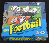 1984 Topps Football Unopened Cello Box BBCE