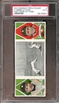 1912 T202 Hassan Triple Folder Cobb/OLeary Fast Work at Third PSA 3 VG