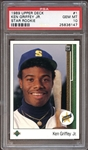 1989 Upper Deck #1 Ken Griffey Jr. PSA 10 GEM MINT