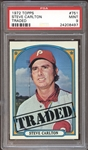 1972 Topps #751 Steve Carlton Traded PSA 9 MINT