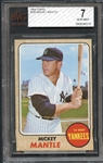 1968 Topps #280 Mickey Mantle BVG 7 NM