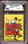 1968 Topps Baseball First Series Unopened Wax Pack GAI 8 NM/MT