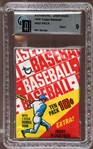 1970 Topps Baseball Unopened Wax Pack 6th Series GAI 9 MINT