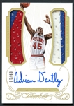2015 Panini Flawless Greats #GDM-AD Adrian Dantley Auto Patch 9/10