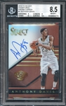 2014-15 Select Signatures Prizms Copper #7 Anthony Davis Auto 18/49 Beckett 8.5