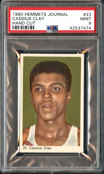 1960 Hemmets Journal #23 Cassius Clay Hand Cut PSA 9 MINT
