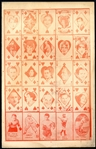 1928 W565 Uncut Sheet Featuring Lou Gehrig