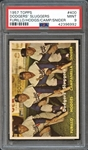 1957 Topps #400 Dodgers Sluggers Furillo/Hodges/Camp/Snider PSA 9 MINT