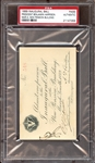 1889 Benjamin Harrison U.S. Presidential Inaugural Ball Pass PSA AUTHENTIC