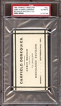 1881 James A. Garfield Obsequies Mechanics Pavilion San Francisco CA Full Pass PSA AUTHENTIC