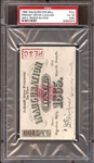 1885 Grover Cleveland U.S. Presidential Inauguration Ball Full Ticket PSA 4 VG/EX (MK)