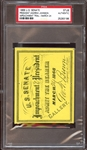 1868 U.S. Senate Impeachment of Andrew Johnson Ticket Stub PSA AUTHENTIC