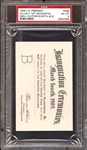 1909 William H. Taft U.S. Presidential Inauguration Pass PSA 8 NM/MT