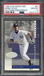 1996 Leaf Signature #67 Derek Jeter Platinum Press Proof PSA 10 GEM MT