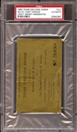 1963 Texas Welcome Dinner Full Ticket-Event Cancelled-Kennedy Assassinated PSA AUTHENTIC