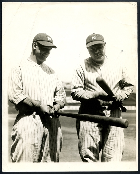 1927 Babe Ruth and Lou Gehrig Type I Original Photograph PSA/DNA