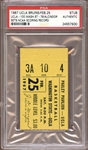 1968 UCLA Bruins Ticket Stub Alcindor Sets NCAA Scoring Record PSA AUTHENTIC
