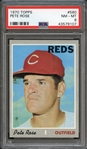 1970 Topps #580 Pete Rose PSA 8 NM-MT