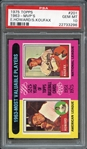 1975 Topps #201 1963-MVPS E. Howard/S. Koufax PSA 10 GEM MT