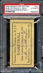 1939 Harlem Globetrotters Full Ticket PSA AUTHENTIC