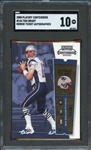 2000 Playoff Contenders #144 Tom Brady Rookie Ticket Autographed SGC 10 GEM MINT