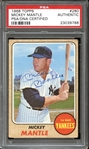 1968 Topps #280 Mickey Mantle Autographed PSA/DNA AUTHENTIC