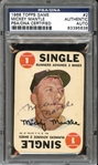 1968 Topps Game #2 Mickey Mantle Autographed PSA/DNA AUTHENTIC