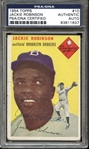 1954 Topps #10 Jackie Robinson Autographed PSA/DNA AUTHENTIC