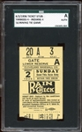 1936 New York Yankees Ticket Stub 16 Inning Tie Game SGC AUTHENTIC