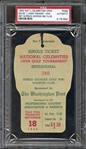 1952 Full Admission Pass PGA National Celebrities Open Jimmy Demaret Win PSA AUTHENTIC