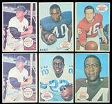1967-68 Topps Baseball and Football Poster Inserts Group of (25) with Mantle