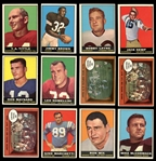 1961 Topps Football Group of (145) with Stars and HOFers