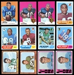 1966-1972 Topps Football Group of Over (135) with Stars and HOFers